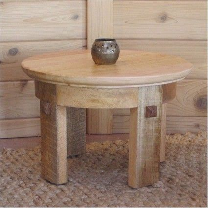 Mango Meditation Side Table. Eco Friendly Table That Matches Well With The  Seagrass And
