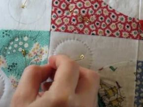 Hand Quilting Video Now this is quilting ...I learned to do this at 5 years old with a very patient mother...I still will only do a quilt this way...Nothing lovelier