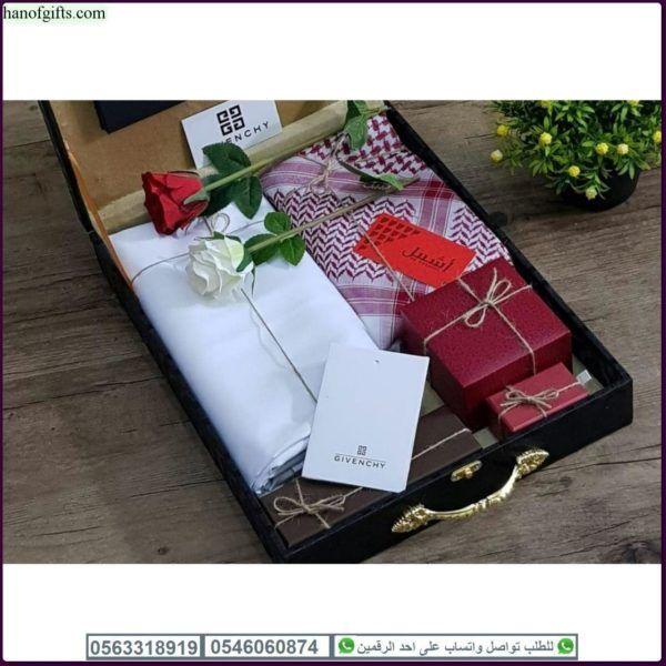 قماش جفنشي رجالي مع شماغ اشبيل و ساعه تصميم جفنشي و ضمان لسنه Wedding Planning Gift Wrapping Gifts