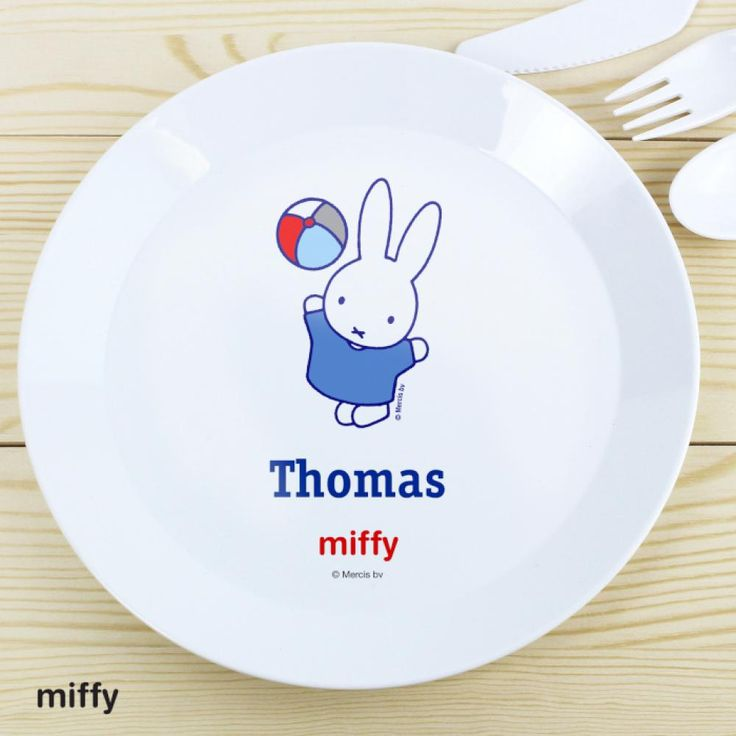 //justtherightgift.co.uk/personalised-miffy-playful-  sc 1 st  Pinterest & 7 best Personalised Plastic Dinner Plates for Kids UK images on ...