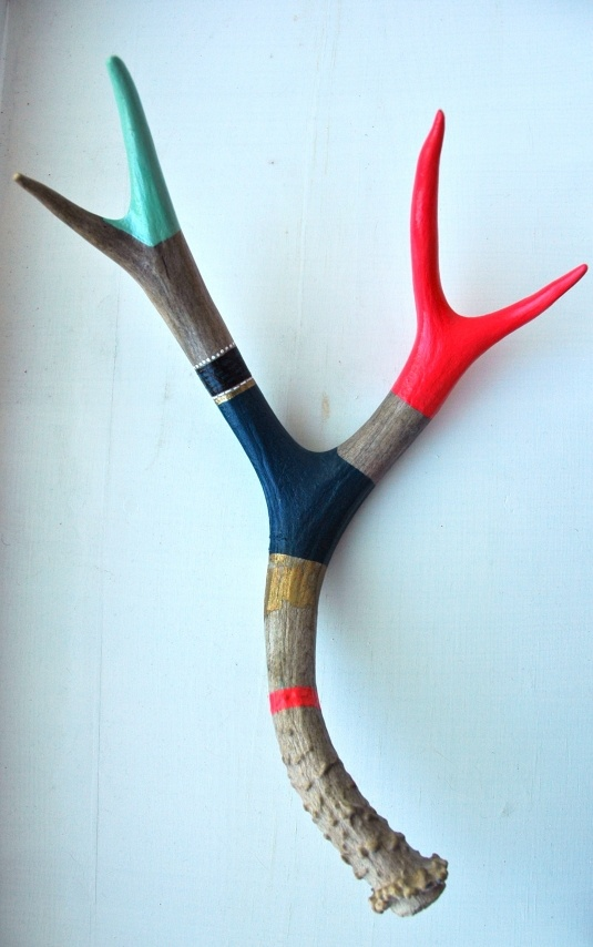 deer antler 6   Cargoh. My friend Hannah paints these beautiful antlers. For my grandparents for Christmas?