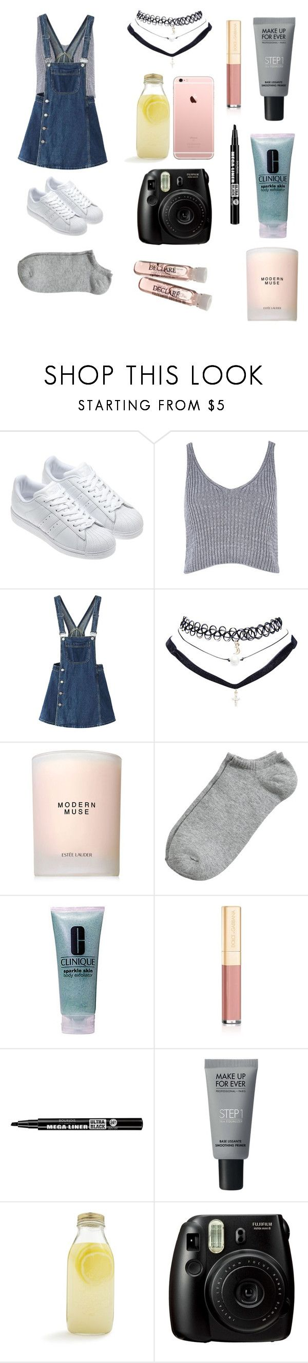 """""""Prety girl 2"""" by yulidounut ❤ liked on Polyvore featuring adidas, River Island, WithChic, Wet Seal, Estée Lauder, Clinique, Dolce&Gabbana, Bourjois, MAKE UP FOR EVER and Bormioli Rocco"""