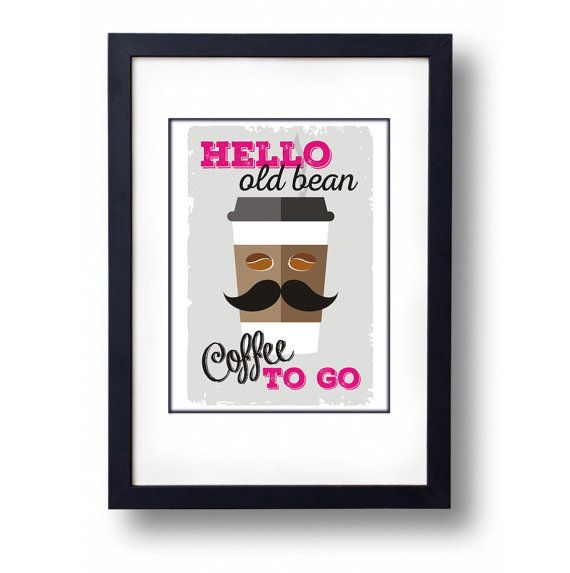 Coffee To Go Art Print A3 Print by mammothcreativeworks on Etsy