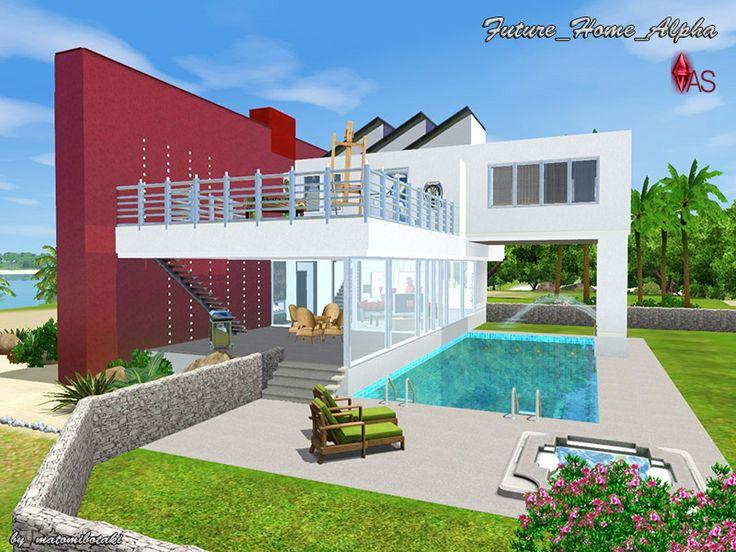 Future_Home_Alpha Modernes, futuristisches Haus für die Sims 3 - sims 3 wohnzimmer modern