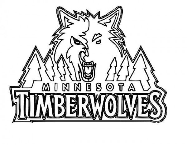 Basketball Minnesota Timberwolves Logo Coloring Page Coloring