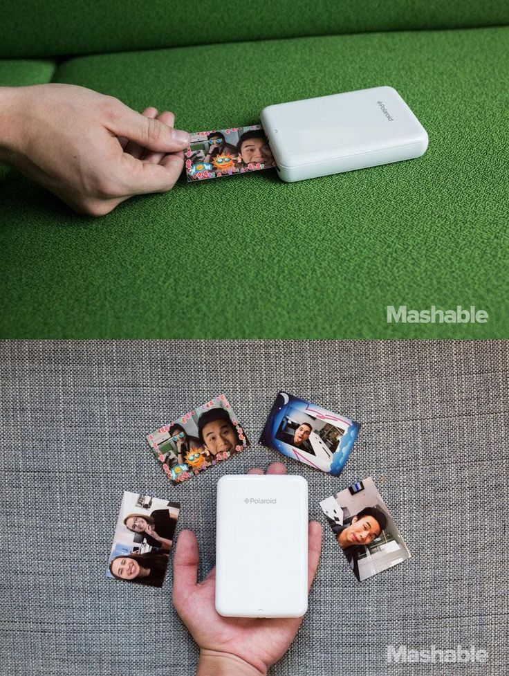It only takes a little over a minute for the Polaroid Zip Instant Photoprinter to print photos from you phone.