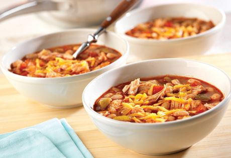 5 pts/ cup In the mood for chili? No problem...because you can have this flavorful chicken chili on the table in less than 1/2 hour. It only tastes like it's been simmering all day.