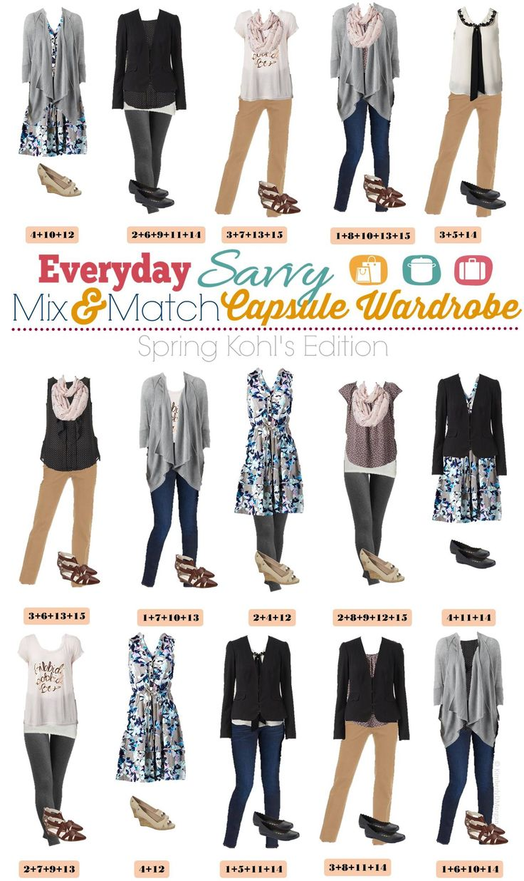 Kohl's Spring Capsule Wardrobe - Mix and Match Outfits