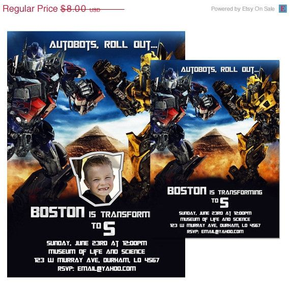 Pin By Abby Onkst On Nora S 5th Birthday: 18 Best Transformers Birthday Invitations Ideas Images On
