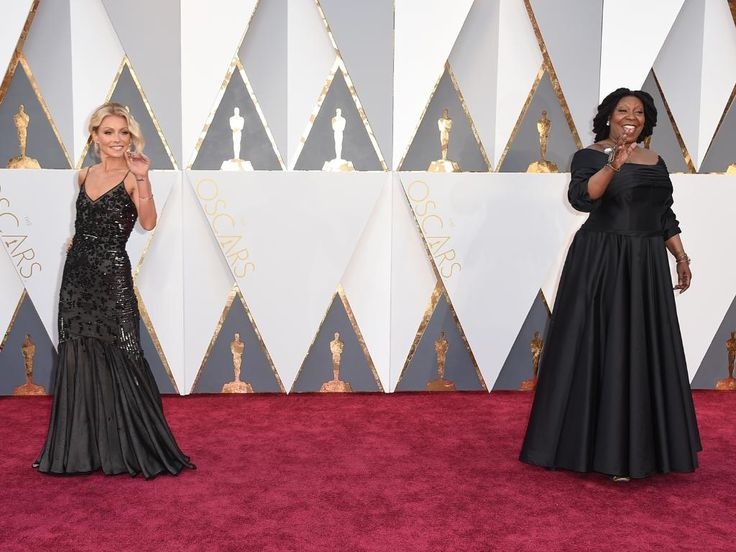 Kelly Ripa and Whoopi Goldberg attend the 88th Annual Academy Awards on February 28, 2016 in Hollywood, California. Picture: AP