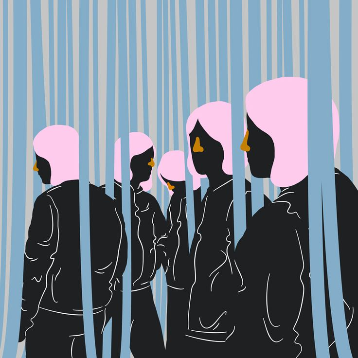 Tracksuits II illustration by Sara Andreasson