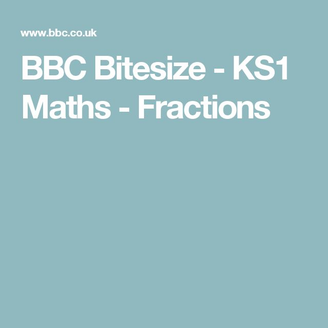 BBC Bitesize KS1 Maths Fractions – Bbc Bitesize Ks1 Maths Worksheets