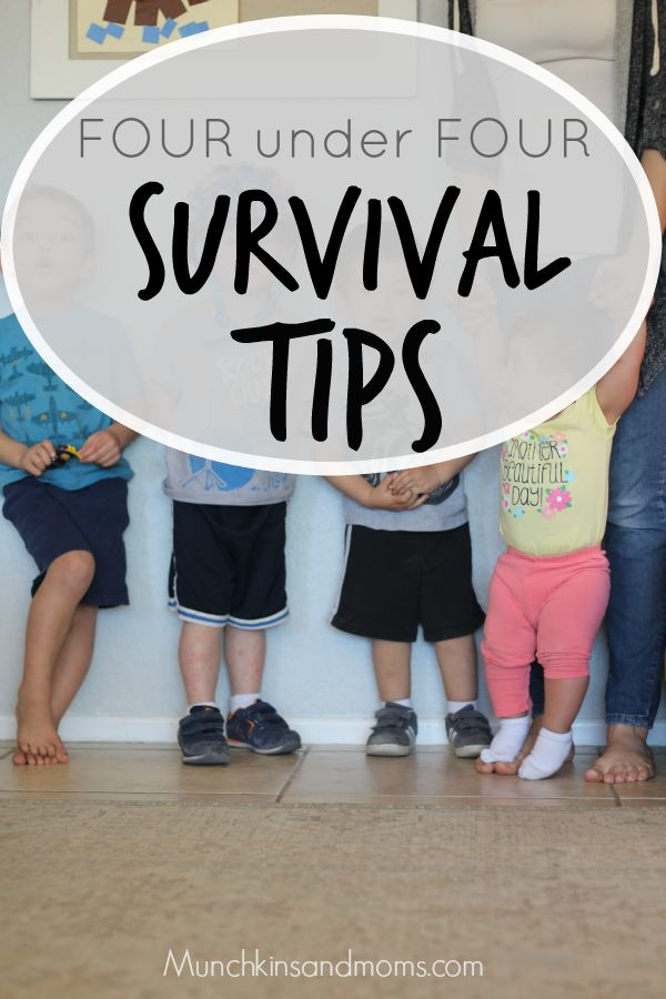 Survival tips for four kids under four years old. It can be done!