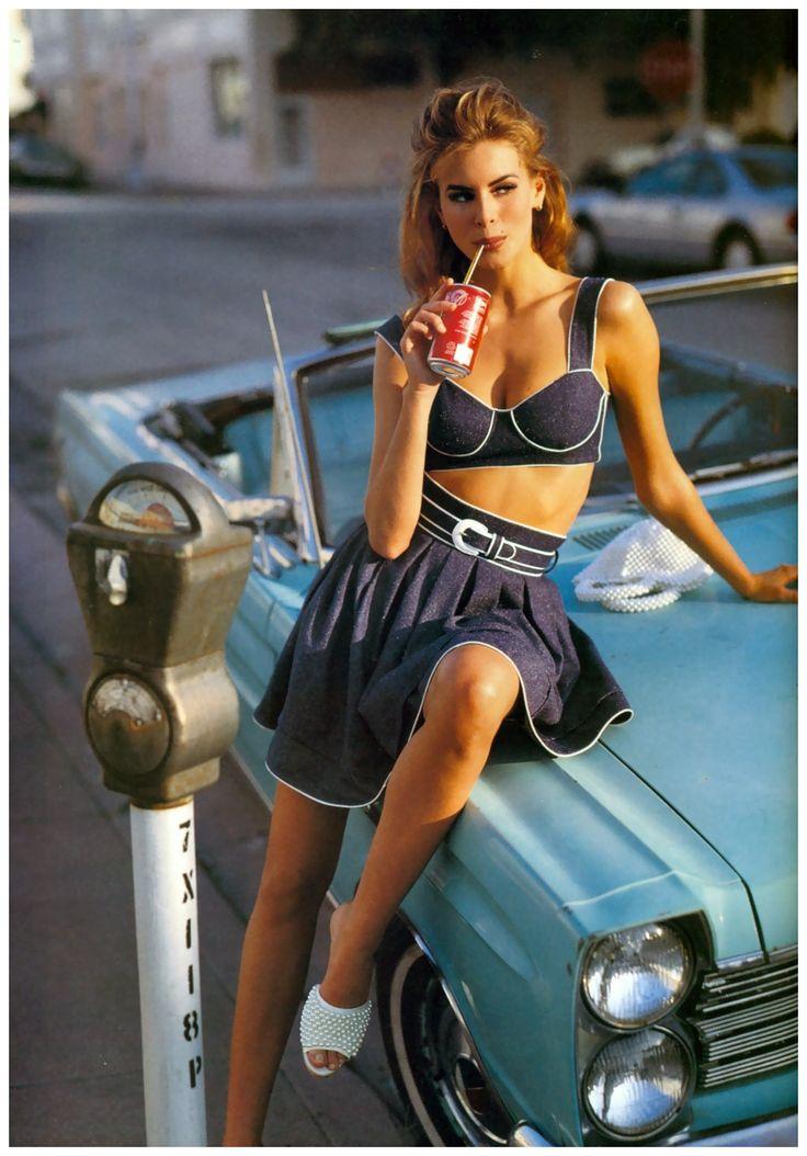 Niki Taylor, photo by SanteD'Orazio, Vogue UK, February 1992.