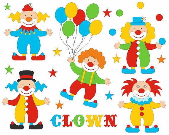 clip art clowns with balloons - photo #47
