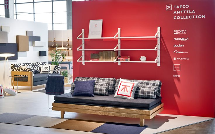 Day&Night and ON sofa beds in Tapio Anttila Collection stand in Habitare 2015.