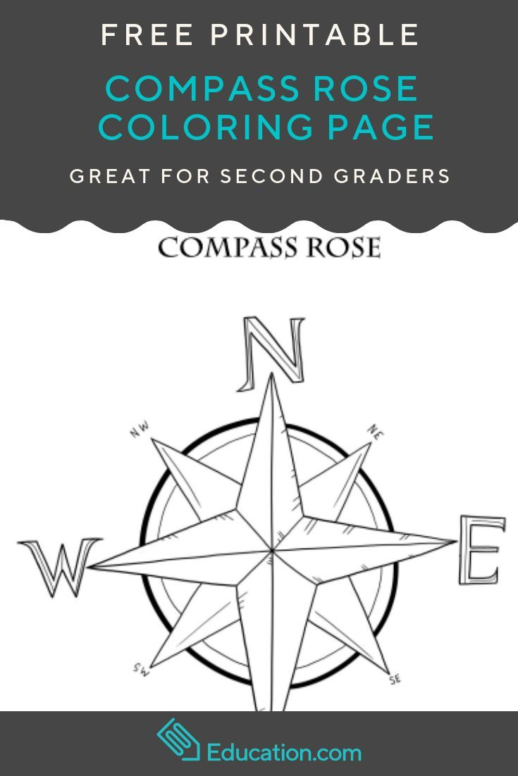 Compass Rose Worksheet Education Com In 2020 Compass Rose Compass Rose Activities Rose Coloring Pages