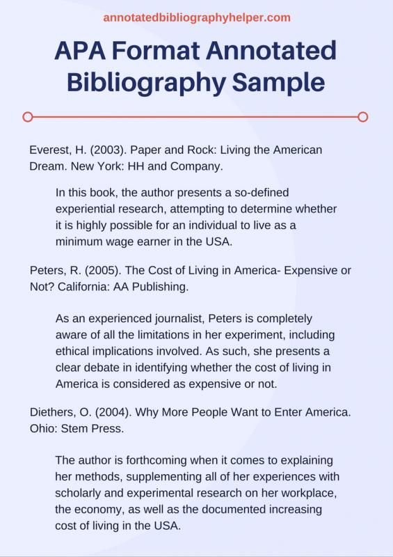 apa bibliography template