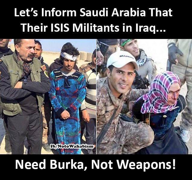 2 من الدواعش متنكرين بزي النساء بيد ابطال الجيش العراقي البطل