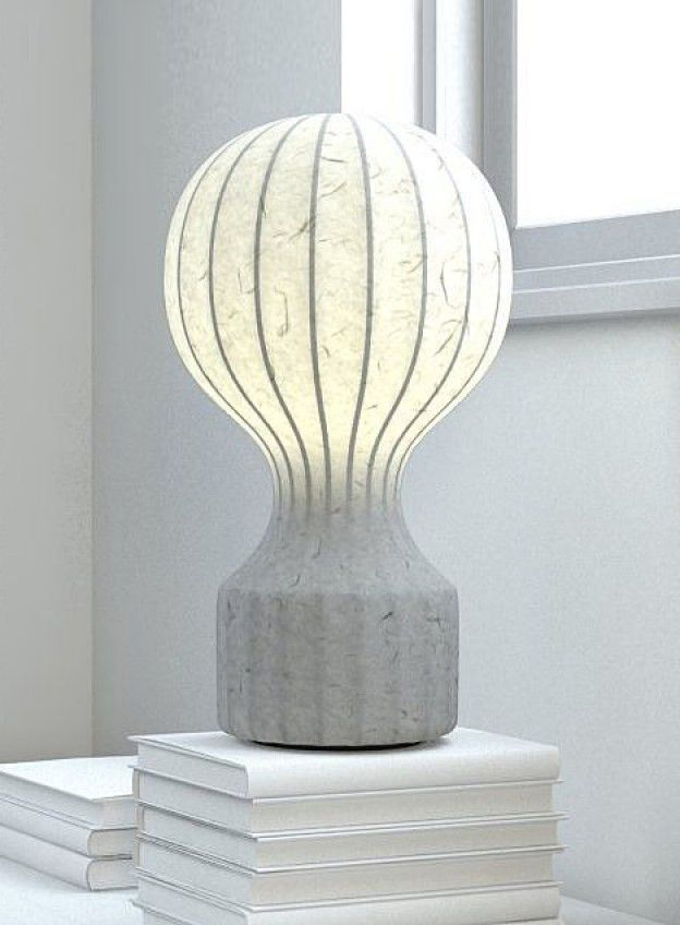 Furniture Grey Lamp Organic paper Parametric See Through