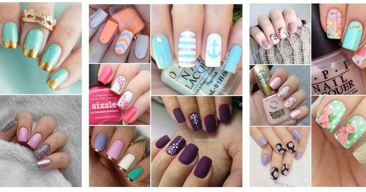 Diseños de uñas fáciles (acrílicas, postizas, con piedras y más)
