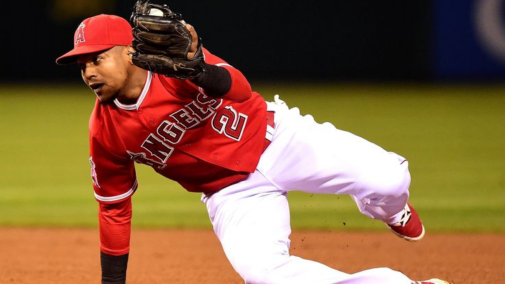 Hamstring issue sidelines Angels shortstop Erick Aybar  Angels shortstop Erick Aybar was not in the lineup Saturday against the Seattle Mariners because of a left-hamstring strain he sustained the night before.  http://www.latimes.com/sports/sportsnow/la-sp-sn-angels-erick-aybar-hamstring-injury-20150627-story.html
