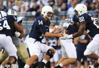 PENN STATE – FOOTBALL 2013 – Akeel Lynch gets the longest run of the day so far, good for 43 yards. He then followed that up with an eight-yard run and another for two.