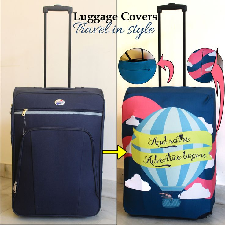 Personalised luggage covers travelinstyle wander luggagecover airport smart travel