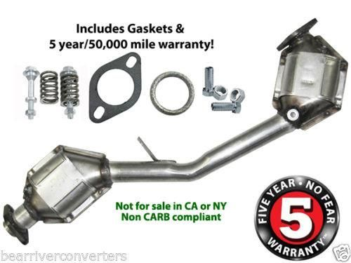 Eastern 40237 Direct Fit Catalytic Converter Assembly Front & Rear / Subaru Legacy 2.2L & 2.5L, Outback 2.2L & 2.5L, Forester 2.5L, Baja 2.5L