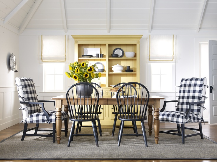 Sunflower Yellow Taking A Cue From Van Gogh Farmhouse Dining RoomsCountry