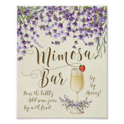 #Mimosa Bar Wedding Sign Lilac purple lavender - #bridal #shower #gifts #wedding #party #bride