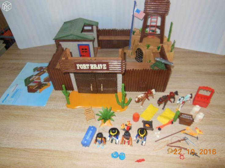 Playmobil fort brave western 5245 notice cadeau mani for Playmobil 5433 famille avec piscine et plongeoir