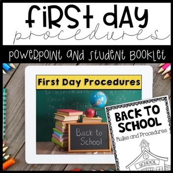 First Day Procedures - Booklet and PowerPoint by Ashleigh | TpT