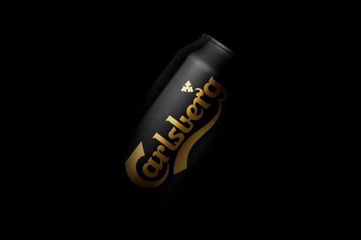 New minimal packaging design by Danish studio Kontrapunkt for Carlsberg's Black Gold
