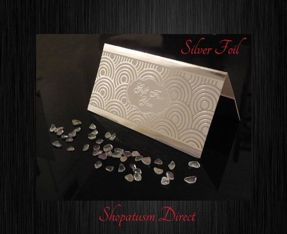 Silver Wedding Gift Card Holder : ... Gift Cards, Wedding Shower Cards, Wedding Gift Card Holder, Silver