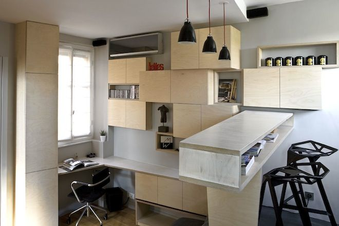 130-square-foot apartment. Genius.