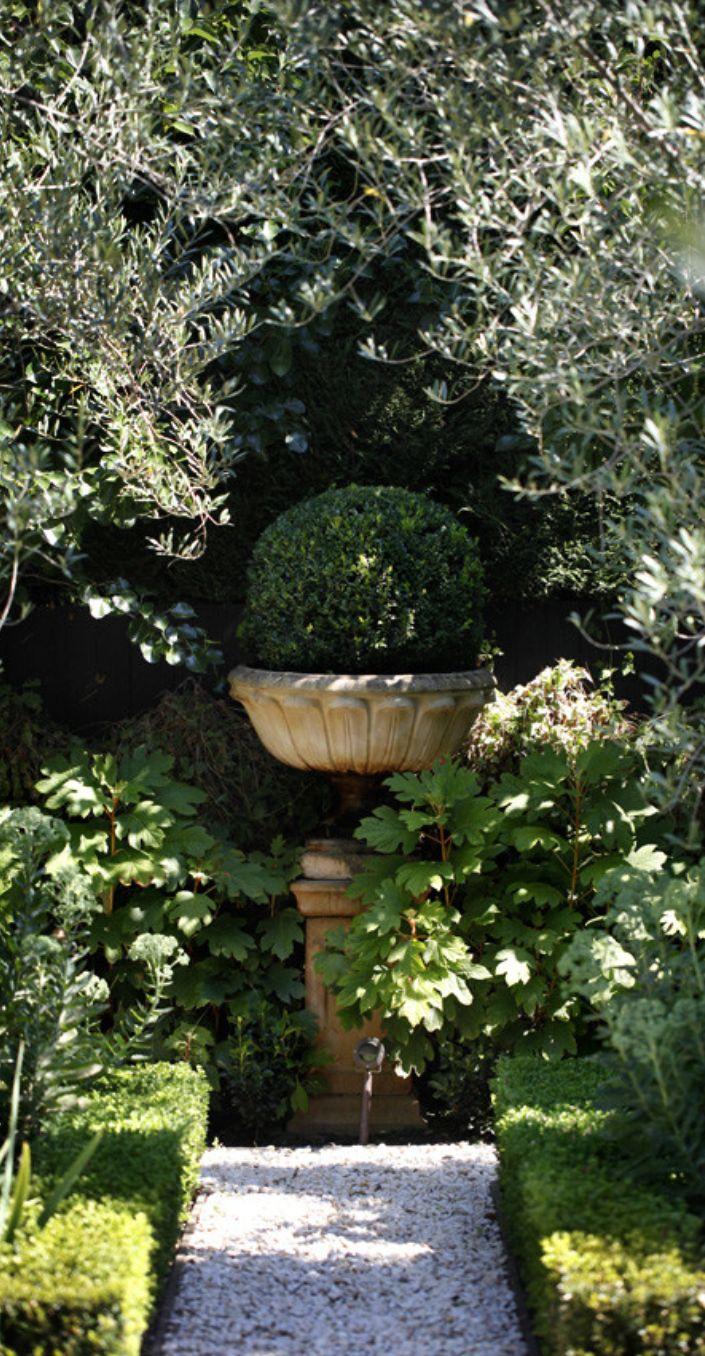 Create A Focal Point At The End Of A Garden Path Formal Gardens Garden Inspiration Beautiful Gardens Formal backyard garden design ideas