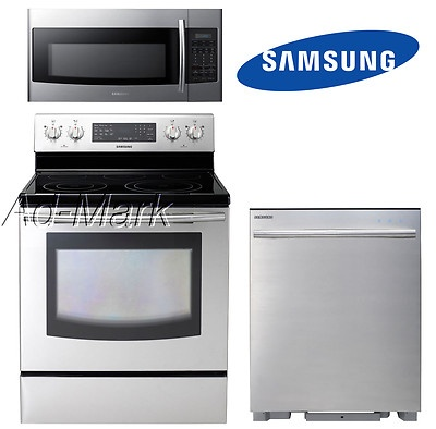 Samsung Appliance Stainless Steel Kitchen Package Deal | eBay ...
