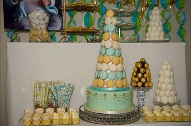 Dessert table for baptism reception