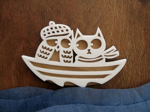 owl&cat brooch: Cats, Flappi Owl, Owl Cat Brooches, Etsy, 23 00, Snowy Owl, Owl Pendants, Pussy Cat, Owls