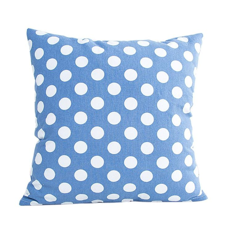 Blue Polka Dot Cushion - Pin for Inspo!