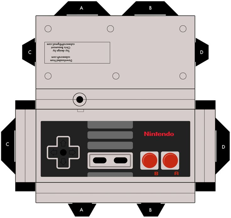 A diy NES controller. Put candy and stuff in it for the husband!
