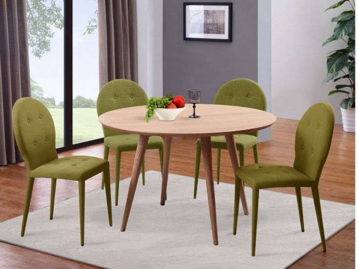 Table à manger TATIANA - 4 couverts - Frêne massif et MDF