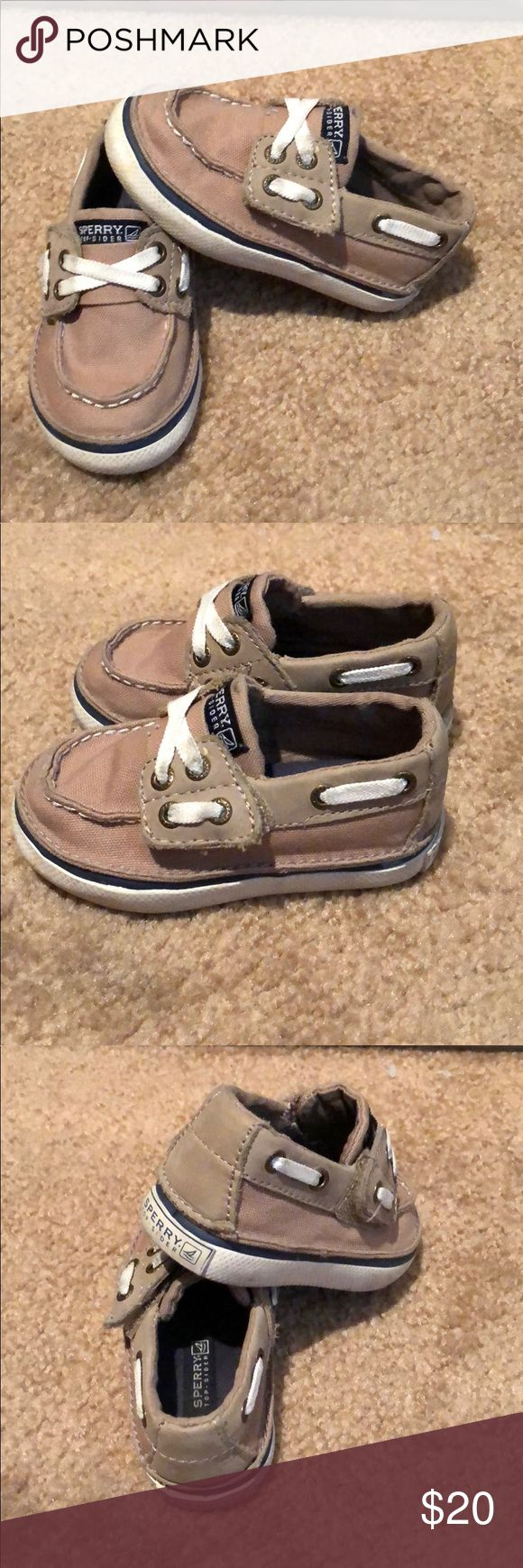 Toddler Sperrys These were my sons. They can be easily cleaned up. Toddler size 5 Sperry Shoes Baby & Walker