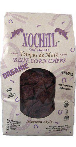 Nous sommes fiers de vous offrir ces croustilles de maïs bleu biologiques.Elles sont cuites au four et enduite légèrement des meilleures huiles organiques non hydrogénées telles que des huiles de carthame et/ou de tournesol. Ces croustilles sont très minces, croustillantes et d'une saveur unique . Vous n'avez jamais goûté d'autres...