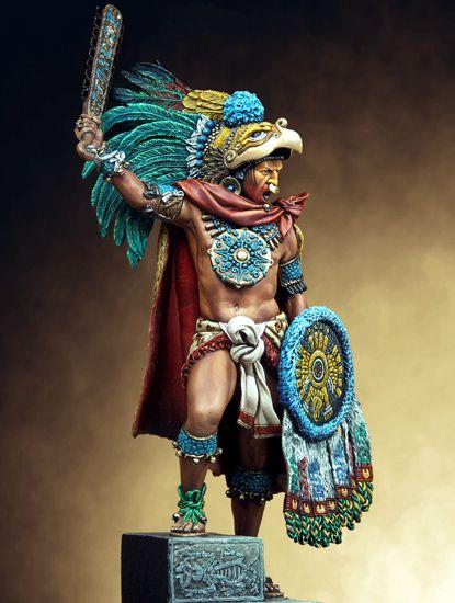 Andrzej Śnigórski reviews colorful figure of Montezuma II offered by Pegaso Models