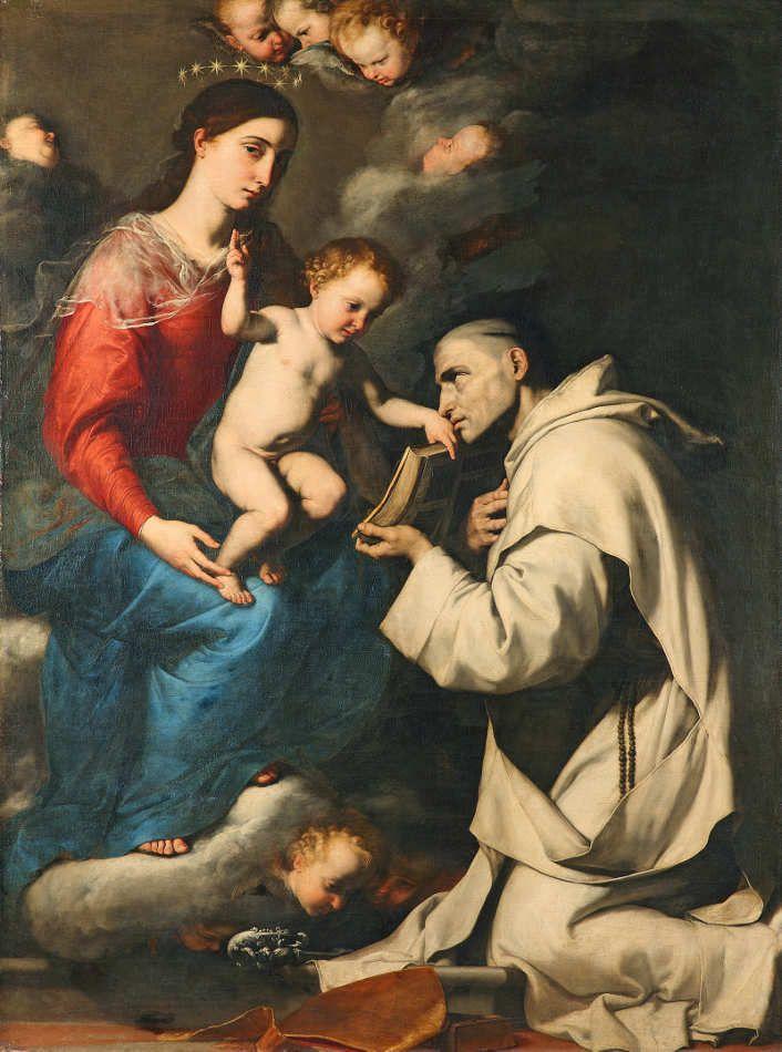 Jusepe de Ribera, Madonna mit Kind und dem heiligen Bruno, 1624, Öl auf…
