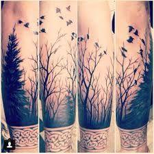 Resultado de imagem para tree and bird tattoos