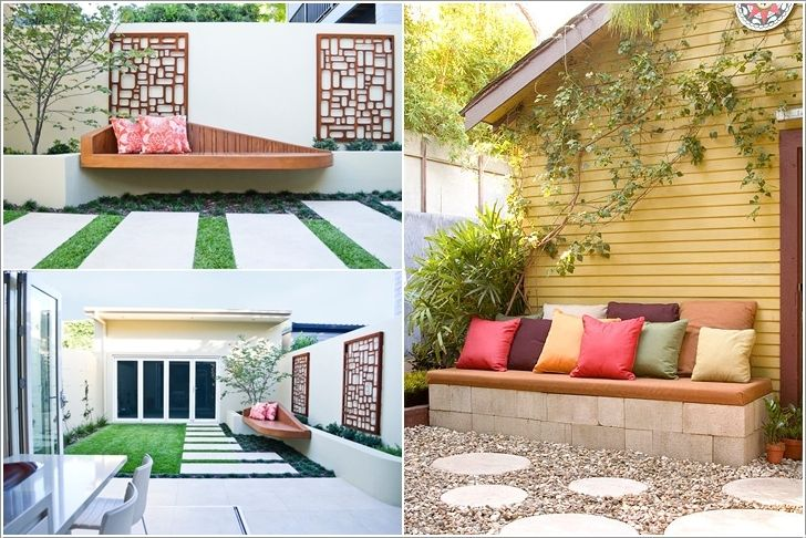 An Outdoor Bench To Enjoy Reading and Views #outdoor #reading #nook