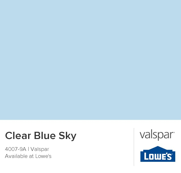 Clear Blue Sky from Valspar  Paint color for hayleighs room